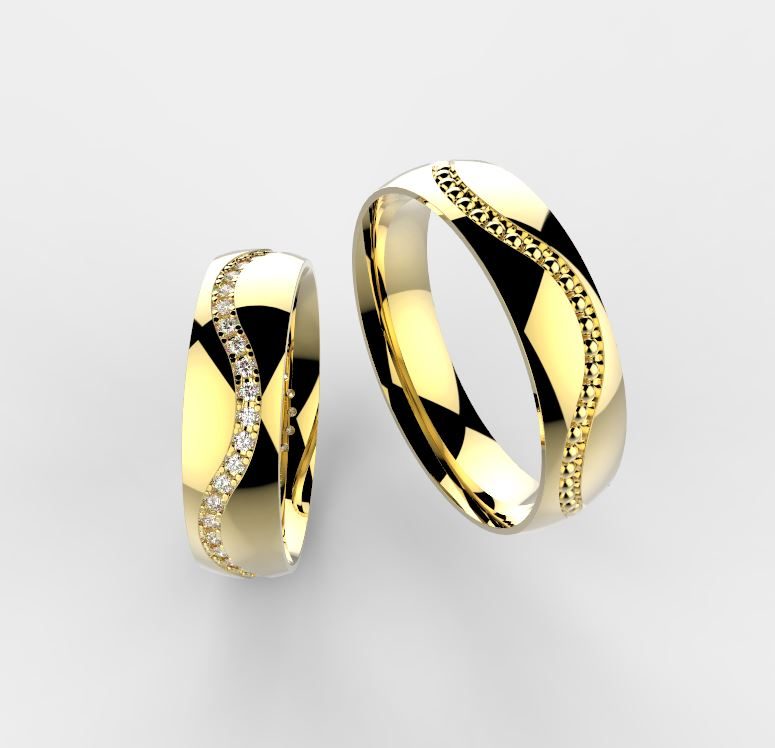 Zlate Snubni Prsteny Vlnka 026 Vyroba Sperku
