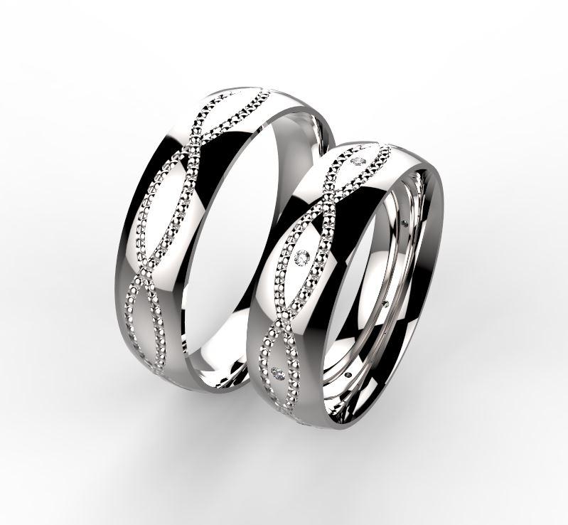 Stribrne Snubni Prsteny Dvojvlna 024 Vyroba Sperku