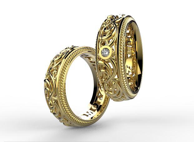 Zlate Originalni Snubni Prsteny Baroko 027 Vyroba Sperku