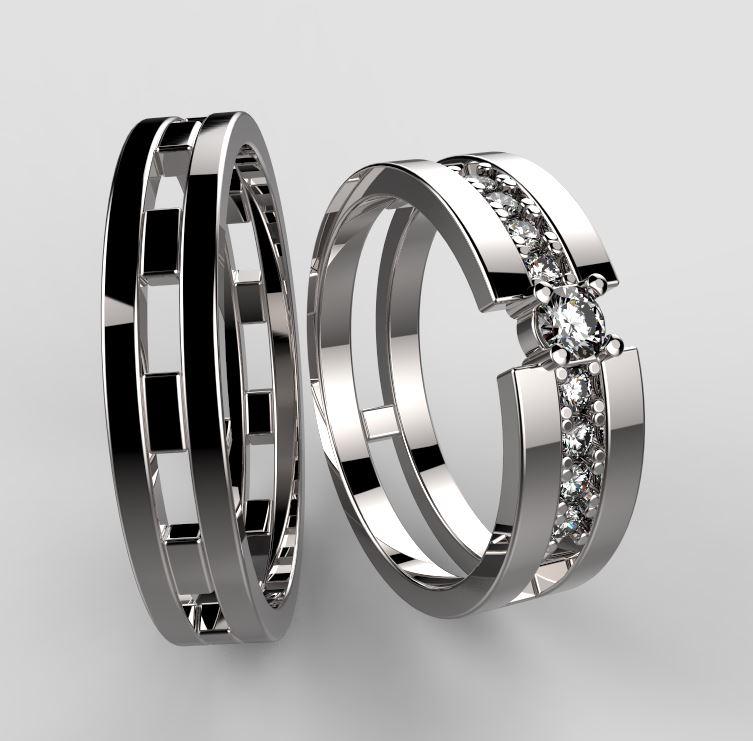 Luxusni Stribrne Snubni Prsteny 023 Vyroba Sperku