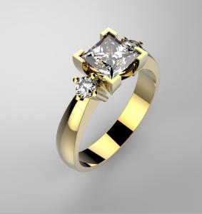 Zlatý luxusní prsten